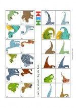 Mini Loco Dinosaurs – back-to-back - Kinderspiele Dinosaurs Preschool, Dinosaur Activities, Preschool Art, Preschool Activities, Teaching Themes, Teaching Kids, Dino Museum, Dinosaur Head, The Good Dinosaur