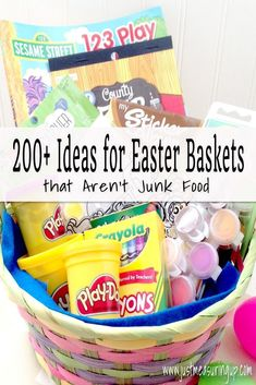 50 easter basket ideas in case you have to wait till the last 200 ideas for candy free easter baskets that kids and adults will love negle Images