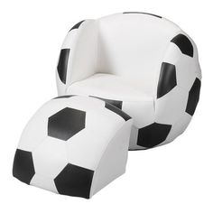 Gift Mark Soccer Ball Chair with Ottoman-wonder if they make something similar for football, basketball, baseball, etc. Play Soccer, Football Soccer, Soccer Ball, Soccer Stuff, Soccer Party, Soccer Jokes, Basketball, Youth Soccer, Volleyball
