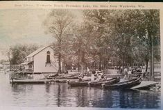 Boats at Waukesha Beach Pewaukee Lake Pewaukee Lake, Old Photos, Wisconsin, Park, Boats, Room, Life, Old Pictures, Bedroom