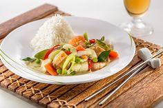 Thai-Fischcurry mit Basmatireis