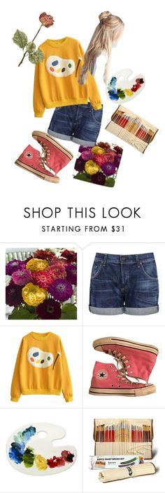 """""""Untitled #56"""" by del-the-grim ❤ liked on Polyvore featuring Citizens of Humanity and Converse"""