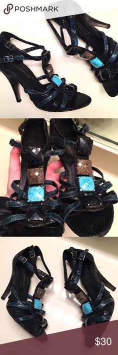 Aqua stone [Steve Madden Luxe] heels size 8 These heels have been worn a few times but definitely still have some life left in them. Women's size 8. Genuine leather sole. Steve Madden Shoes Heels