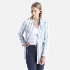 Vero Moda - Boxy Denim Stripe Shirt