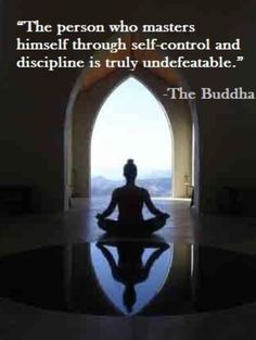 The person who masters himself through self-control and discipline is truly undefeatable. The person who masters himself through self-control and discipline is truly undefeatable. Buddha Quotes Inspirational, Positive Quotes, Motivational Quotes, Buddhist Teachings, Buddhist Quotes, Discipline Quotes, Self Discipline, Self Control Quotes, Loose Weight In A Week