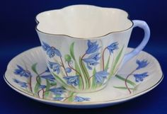 Shelley Tea Cup and Saucer- Bluebells