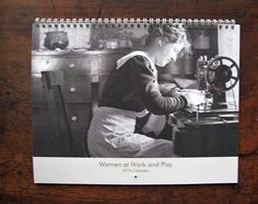 2014 Calendar Vintage Women at Work and Play by maclancy on Etsy, $24.00