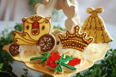 Princess sugar cookies inspired by Belle of Beauty and the Beast.