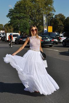 Erica Pelosini in White, Paris