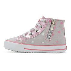 Toddler Girls' Beanie Boos Kiki High Top Sneakers - Gray 12, Toddler Girl's