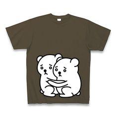 子供しろくま×2 Tシャツ Pure Color Print(オリーブ)