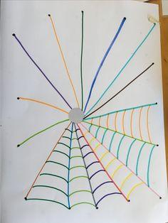 Preschool Writing, Preschool Art, Preschool Activities, Kindergarten Art Lessons, Bricolage Halloween, Form Drawing, Pre Writing, Camping Crafts, Motor Activities
