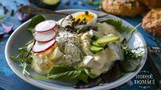 Avokádo a vejce – z těchto dvou superpotravin můžete připravit salát, který bude chutnat všem milovníkům zdravých a pikantních pokrmů. Low Carb, Eggs, Meat, Chicken, Cooking, Breakfast, Ethnic Recipes, Food, Fitness