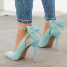 Blue Point Toe Stiletto Bow Fashion High-Heeled Shoes Blue Point Toe Stiletto Bow Fashion Schuhe mit hohen Absätzen The post Blue Point Toe Stiletto Bow Fashion Schuhe mit hohen Absätzen & Heels appeared first on Shoes . Pretty Shoes, Beautiful Shoes, Pumps Heels, Stiletto Heels, Heeled Sandals, Work Heels, Flats, Shose Heels, Jeans Heels