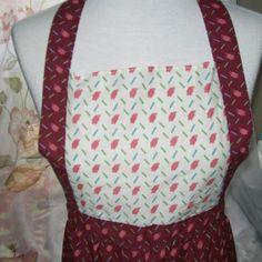 Women's apron  retro baking apron  bib apron  by NewtoUVintage