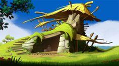 Landscape make for the Wakfu serie (episode flash Landscape Artwork, Landscape Illustration, Fantasy Landscape, Book Illustration, Fantasy Art, Landscape Design, Illustrations, Cartoon Background, Animation Background