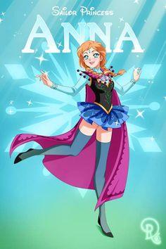 Disney Re-Imagined As Sailor Moon Characters!? | moviepilot.com Anna