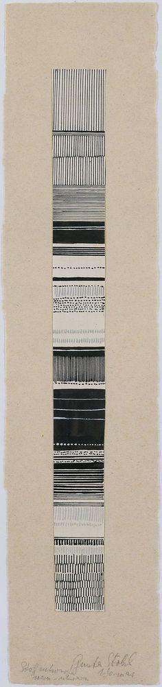 Gunta Stölzl - Watercolor and ink fabric design, 1919–1925. Bauhaus Archive.