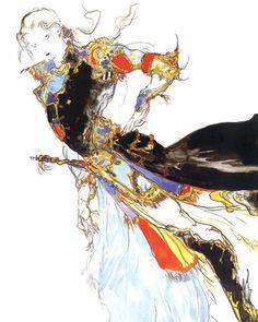 Faris Scherwiz - Final Fantasy V | Yoshitaka Amano