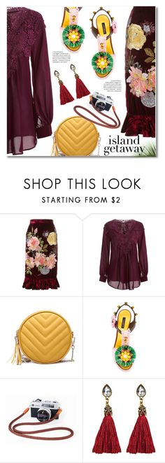 """""""Chic Island Getaway"""" by fshionme ❤ liked on Polyvore featuring Alice Archer, Dolce&Gabbana and islandgetaway"""