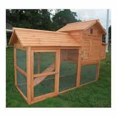 Aosom LLC Large Pawhut Chicken Coop with Hinged Roof and Nesting Box $283 Walmart