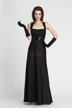 Similiar Black Evening Gown With Gloves Keywords