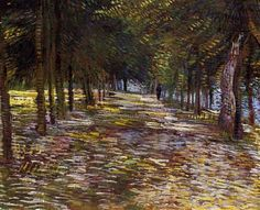 Vincent van Gogh (Dutch, 1853-1890): L'Avenue au parc de Voyer, d'Argenson à Asnières (Avenue in Voyer d'Argenson Park at Asnieres), 1887