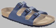 Birkenstock Sandals ''Florida'' from Leather in blue with a regular insole Birkenstock Florida, Flats Boats For Sale, Flats With Arch Support, Florida Woman, Birkenstocks, Fashion Sandals, Slide Sandals, Flat Sandals, Shoes Online