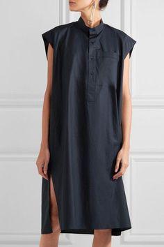 Balenciaga - Cotton-poplin Dress - Navy - FR40