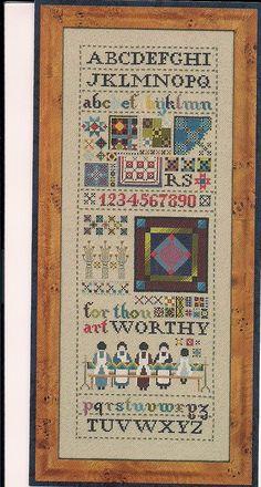 Counted  Cross Stitch   Amish Quilt by PointedNeedleDestash, $4.00