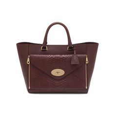 Back to work in style - Willow Tote in Oxblood Silky Classic Calf & Silky Snake