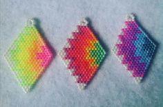 brick stitch earrings - color gradients