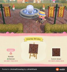 With the parks closed, I've been trying to make some Disney magic on my island. Here's one of the designs I've made so far. I hope y'all enjoy! Animal Crossing Wild World, Animal Crossing Guide, Animal Crossing Villagers, Animal Crossing Pocket Camp, Disney Island, Motif Acnl, Motifs Animal, Path Design, Games