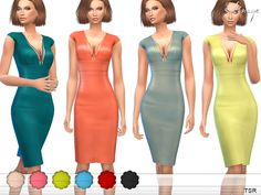 The Sims Resource: Cap Sleeve Harness Dress by ekinege • Sims 4 Downloads