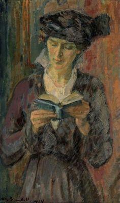 MAGNUS ENCKELL Portrait of Anni Lagerborg (1914)