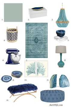 Decorating with blue and white Part 2 Teal Room Decor, Teal Rooms, Seaside Decor, Sofa Throw Pillows, Living Furniture, White Decor, Home Accessories, Family Room, Art Deco