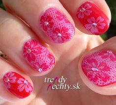 red manicure, nail art, nail design