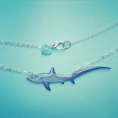 Items similar to Great White Shark necklace in shell gift box. Glossy blue & purple shark pendant, perfect shark jewelry gift or stocking filler for jaws fan on Etsy Shark Jewelry, Ocean Jewelry, Thresher Shark, Beach Gifts, Great White Shark, Shark Week, Dodgers Gear, Jewelry Gifts, Shells