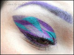 camouflage eye make up - http://milchschokis-beautyecke.blogspot.de/2013/03/daily-vs-xtravaganz-die-lila-tarnung.html