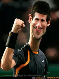 Caricatura de Novak Djokovic.