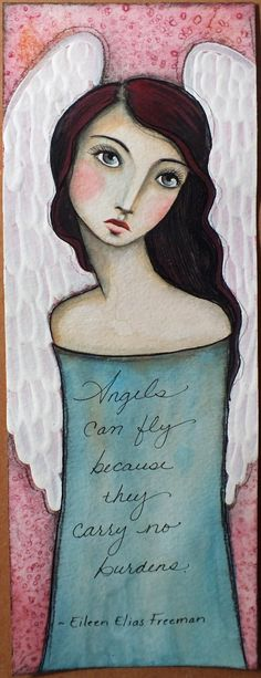 Original OOAK 4 1/2 x 12 Mixed Media Watercolor by Pennystamper