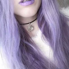 Pastel Purple Hair + Lips
