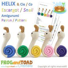 Amigurumi Escargot Snail par FROGandTOAD Créations © #Amigurumi #Crochet #Patron #Pattern #Escargot #Snail