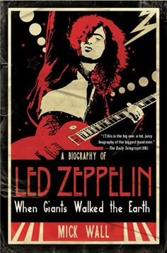 """The front cover of """"When Giants Walked the Earth : A Biography of Led Zeppelin"""""""