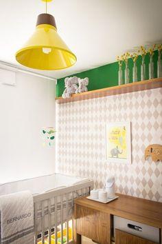 Adorable nursery featuring my Baby Elephants Grey Harlequin wallpaper