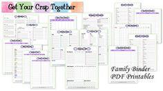 ORG: Family binder pdf printables #family #binder #pdf #printable #todo #organisation
