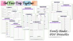 FREE Organizing Printables for your busy family!