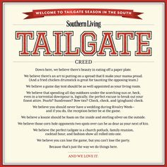 The Southern Living Tailgate Creed