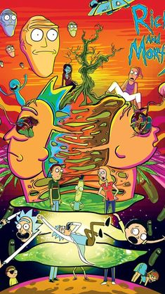 rick and morty Wallpaper Trippy Rick And Morty, Rick And Morty Drawing, Rick I Morty, Trippy Wallpaper, Cartoon Wallpaper, Iphone Wallpaper, Rick And Morty Stickers, Rick And Morty Poster, Ricky And Morty