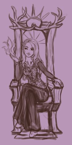 "evalescoart:  ""A sketchy wip of sassy Queen Aelin  ""  your style is so cute look how sassy she looks!"
